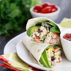 Santa Fe #Chicken #Salad #Wraps