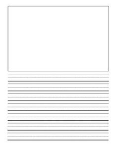 ... Lined Paper For Kids With Picture Box Free writing paper with box