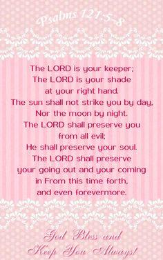 Psalm 121:5-8