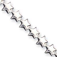 """The Katie Collection - Sterling Silver 7"""" Stars Bracelet Goldfinger. $34.95"""