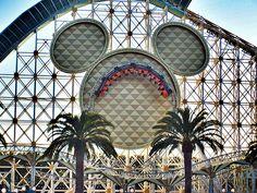 Roller Coaster in Disneyland, California