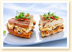 pepper jack & cheddar grilled cheese sandwich with roasted cauliflower & caramelized onions