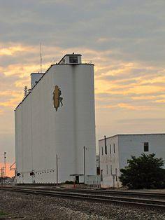 grain elevator in Dodge City, Kansas