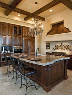 Mediterranean Kitchen Cabin Design, Pictures, Remodel, Decor and Ideas - page 3