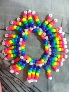 Rainbow Firework Kandi by CupcakeePlurbby - Kandi Photos on Kandi Patterns     SO fancy