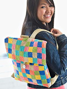 This quilted backpack is an adorable accessory to carry all around town.