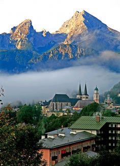 View of Berchtesgaden and the Watzmann Germany