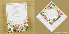 perfectly coordinated garden wedding invitations & napkins #wedding #WeddingInvitations #WeddingNapkins #gardenwedding
