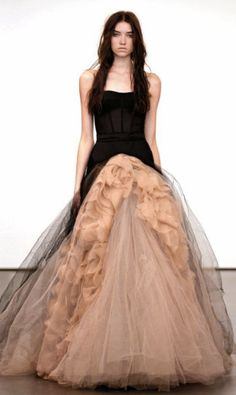Vera Wang black wedding dress. 2012 Collection... would LOVE that in white and with little sleeves.