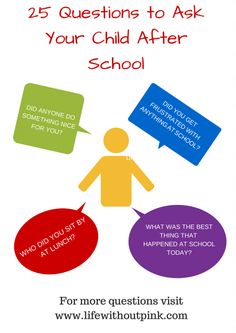 25 Questions To Ask Your Child After School #school