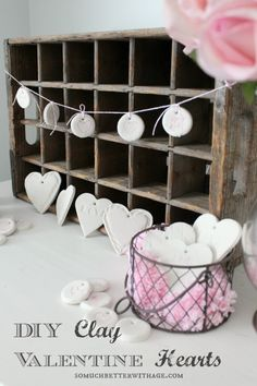 DIY Clay Valentine Hearts and Garland