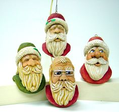 Hand carved ornaments