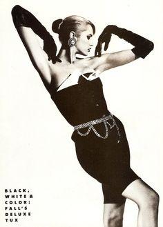 white amp, harper8217 bazaar, harper bazaar, black white, ashley richardson, octob 1987, fashion beauti, 1980s model