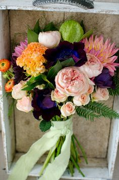diy bouquet with directions here http://www.weddingchicks.com/2014/02/25/bridal-bouquet-diy/