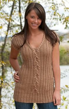 Flattering Cabled Top