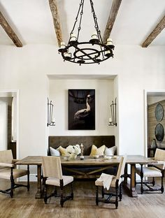 modern spanish style. dining I love this idea except the goose