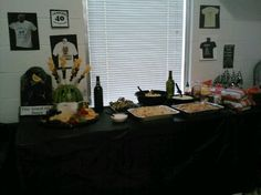 One of the food tables at patchs party