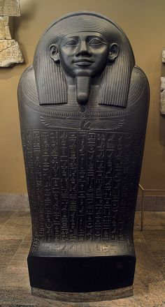 Basalt Sarcophagus of Horkhebit, Egyptian, Late Period, Dynasty 26, c. 590 BC