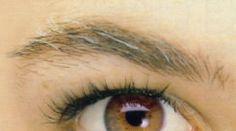 How to get rid of gray.  Eyebrows are hair too!
