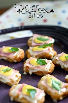 Chicken Cordon Bleu Bites by Hungry Housewife, via Flickr