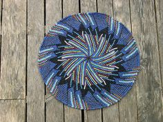 Insertions - tapestry crochet rug