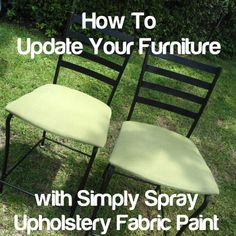 upholsteri fabric, idea, fabric paint, diy furnitur, kitchen chairs, paints, upholstery fabrics, simpli spray, spray project