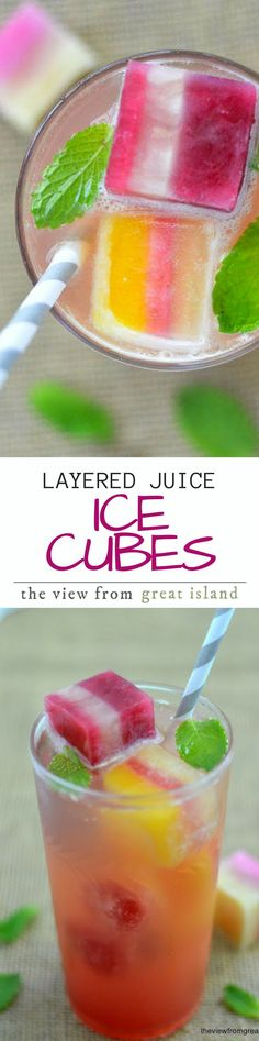 Layered Ice Cubes ~