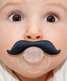 Gentleman Mustache Pacifier on zulily today!