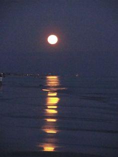 Destin FL - Moon on the beach