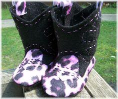felt cowboy boots