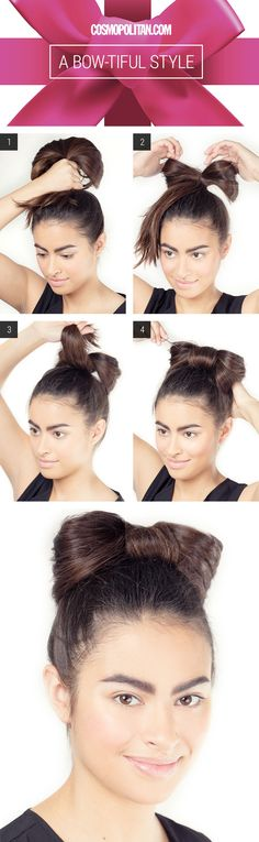 Cosmo Hair How-To: Beautiful Bow Style. Perfect #Party Hair!
