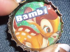 bottlecap+epoxy and glitter :)