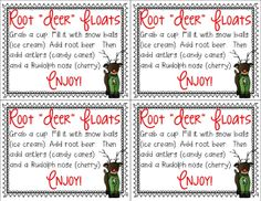 "Mrs. Richardson's Class: Last Minute Gifts! Root ""Deer"" Floats for parent volunteers and families!"