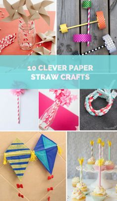 10 Clever Paper Straw Crafts for Kids