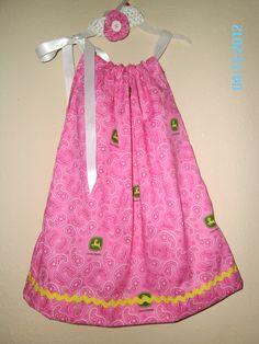 John Deere Pink Pillowcase dress