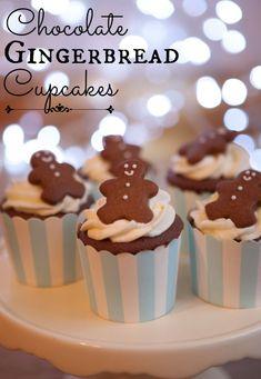 #KatieSheaDesign ♡❤ ❥ ▶ Chocolate gingerbread cupcakes recipe via @Colleen Catching My Party
