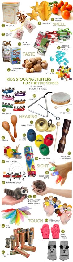 Kid's Stocking Stuffers for the Five Senses from www.bellandboard.com