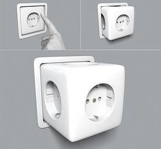 Hidden outlet.