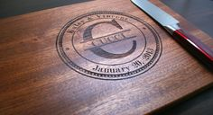 Personalized Cutting Board Personalized by TaylorCraftsEngraved, $44.00
