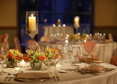 Beautiful #wedding table decorations set at the Park Hyatt Beaver Creek