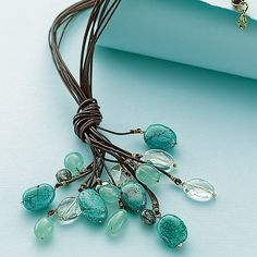 Waterfall necklace ~ could also make Starfall with yellows & oranges or Nightfall with shades of grey & black!
