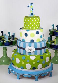 birthday parti, polka dots, first birthday cake, birthday idea, boy cakes