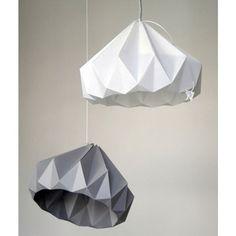 Papier on pinterest origami tom dixon and cut paper - Lampe en papier origami ...