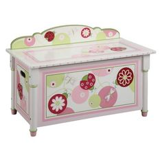Guidecraft Sweetie Pie Toy Box - G86104 $209.99 sweeti pie, girl toy, toy chest, pies, toys, toy boxes, pie toy, toybox, kid