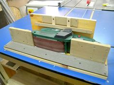 Belt Sander - Edge Sanding Platform - by steliart @ LumberJocks.com ~ woodworking community
