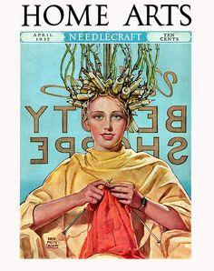 1937 - Needlecraft Home Arts/ getting a perm