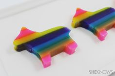 Pinata-shaped jello shots