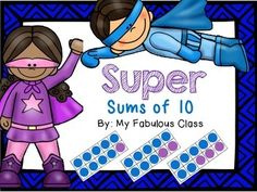 ten frames, kindergarten superhero