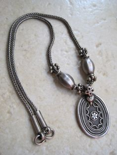 Solid sterling silver Bedouin necklace from Oman | ca. 1970s