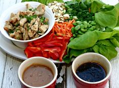 Asian Lettuce Wraps with Two Dipping Sauces #SensationalSides
